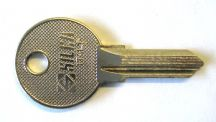 Key blank for petrol cap key
